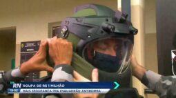 Roupa de um milhão de reais: mais segurança ao esquadrão antibomba