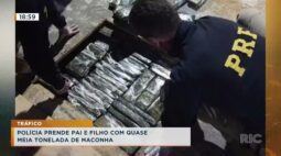 Polícia prende pai e filho com quase meia tonelada de maconha