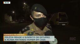 Polícia reage a suspeito de estupro e acaba matando homem em casa