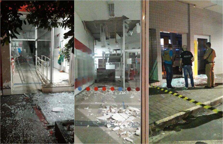 Quadrilha explode agências bancárias em Cambará, no interior do Paraná