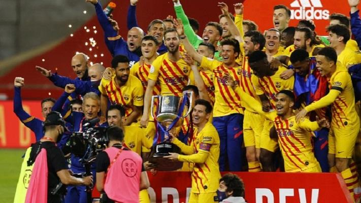 Com dois de Messi, Barcelona atropela Athletic Bilbao e conquista título da Copa do Rei