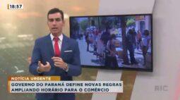 Governo do Paraná define novas regras ampliando horário para o comércio
