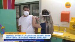 Segunda começa vacinação contra a gripe e quem toma a vacina da covid precisa de cuidados