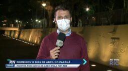 Primeiros 15 dias de abril no Paraná: mortes por covid-19 caem pela metade