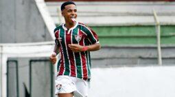 """Kayky comemora primeiro gol pelo Fluminense: """"Sensação incrível"""""""