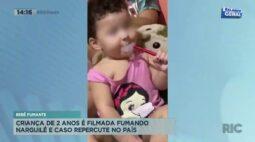 Bebê fumante: criança de 2 anos é filmada fumando narguilé e caso repercute no país