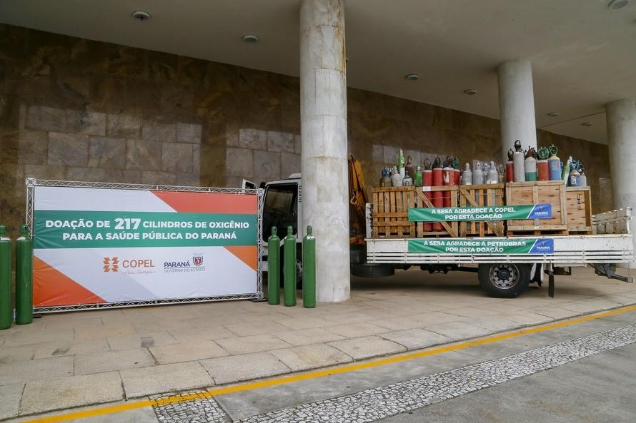 Copel doa 217 cilindros de oxigênio para tratamento da covid-19