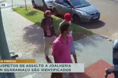 Suspeitos de assalto a joalheria em Guaraniaçu são identificados