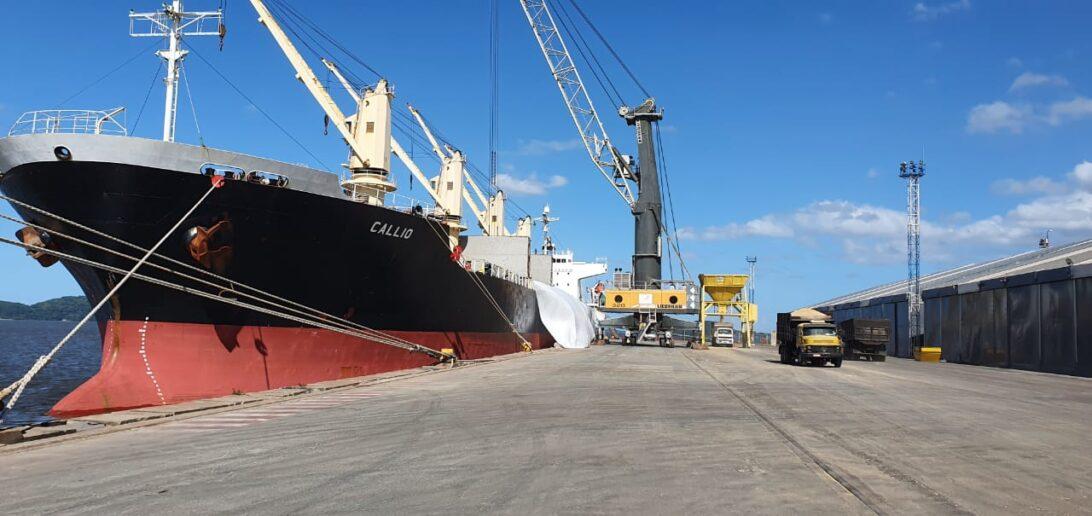 Pela primeira vez, Porto de Antonina maneja importação de malte