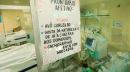 Parentes deixam recadinhos a pacientes com covid-19 e transmite afetividade em hospital de Maringá