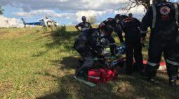 Mulher quebra a perna após cair de uma altura de 7m em área rural de Paranacity