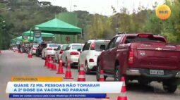 Quase 72 mil pessoas não tomaram a segunda dose da vacina no Paraná
