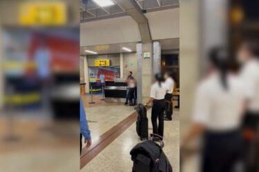 Policial militar do Paraná surta em aeroporto e faz funcionária refém, veja vídeos