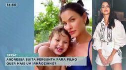 Andressa Suita pergunta para filho 'quer mais um irmãozinho?'