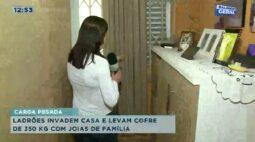 Ladrões invadem casa e levam cofre de 350 kg com joias de família