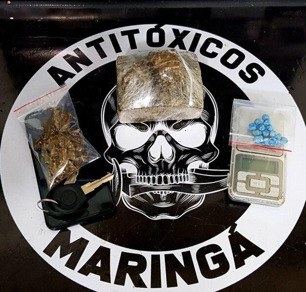 Casal tenta disfarçar criminalidade com filho de 5 meses no colo, mas é preso pela polícia vendendo drogas em Maringá