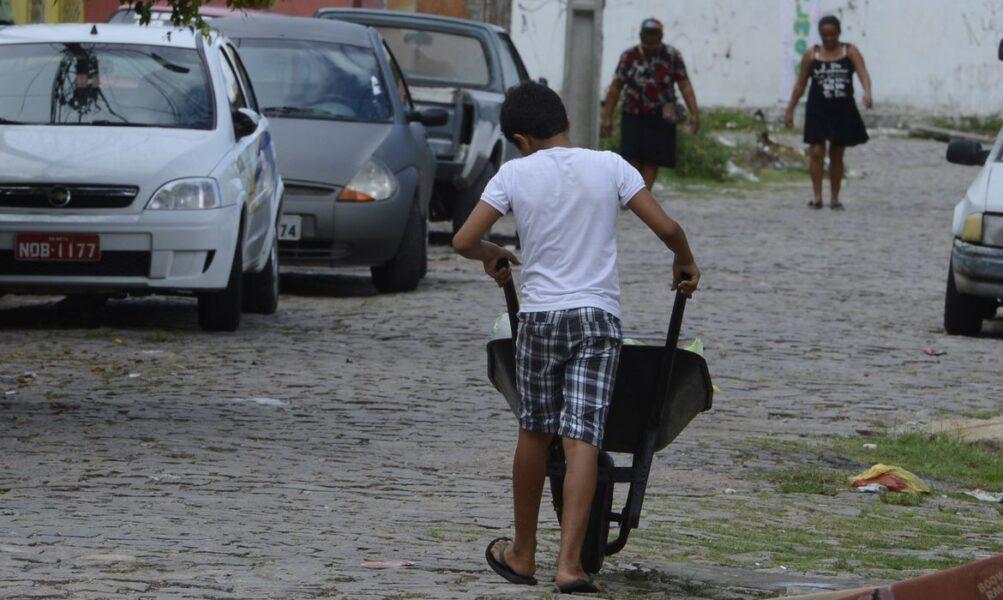 Trabalho infantil: crianças eram usadas por mulher para vender frutas, em Coronel Vivida