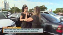 Empresários da área de eventos protestam em Cascavel por retomada das atividades