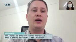Moradores de Barbosa Ferraz protestam após suspeito de pedofilia ser libertado