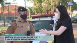 Delrey Capeta: relíquia usada para fazer furto é abandonada pelos bandidos
