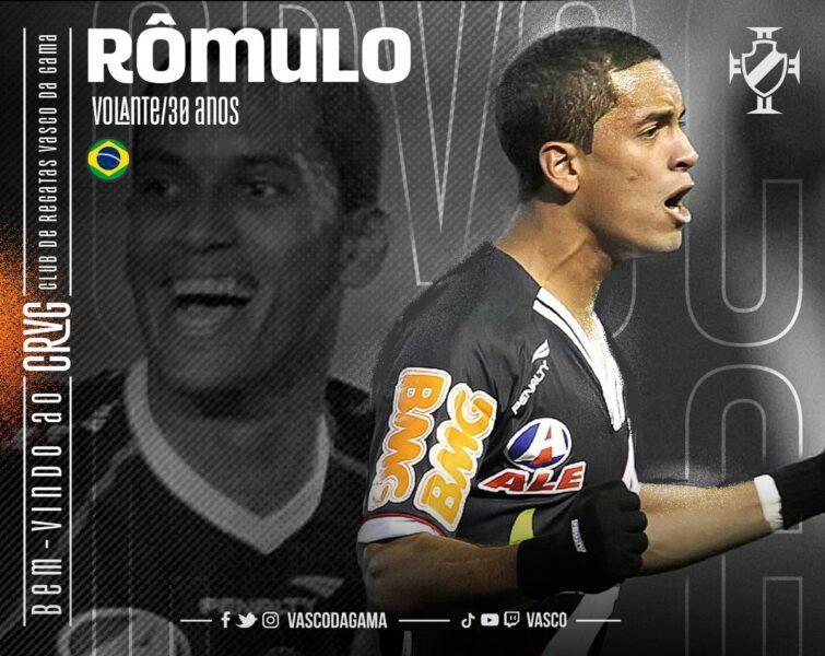 Vasco anuncia contratação do volante Rômulo até o final de dezembro
