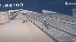 VÍDEO: Criança é resgatada segundos antes de quase ser atropelada por trem