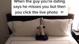 Mulher descobre traição depois de um erro em foto ao vivo; assista!