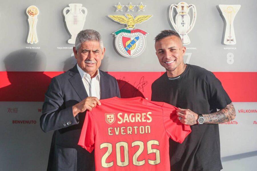 """Everton Cebolinha fala sobre primeira temporada no Benfica: """"Realização de um sonho"""""""