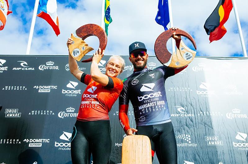 Brasileiros faturam mais uma etapa do Circuito Mundial de Surf
