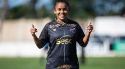 Valeska Bebê fala sobre a estreia do Ceará na série A2 do Brasileirão Feminino