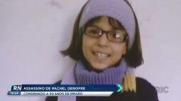 Assassino de Rachel Genofre é condenado a 50 anos de prisão