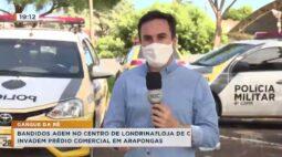 Bandidos agem no centro de Londrina, loja de celulares foi arrombada