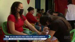 Dia da beleza para mães: voluntárias fazem serviços sem cobrar
