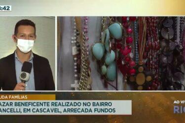 Bazar beneficente realizado no bairro Cancelli, em Cascavel, arrecada fundos