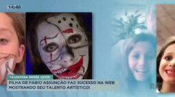 Filha de Fábio Assunção faz sucesso na web mostrando todo seu talento artístico