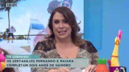 Os sertanejos Fernando e Maiara completam dois anos de namoro