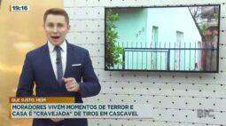 """Moradores vivem momentos de terror e casa é """"cravejada"""" de tiros em Cascavel"""