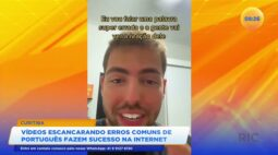 Vídeos escancarando erros comuns de português fazem sucesso na internet