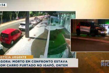 Confronto entre suspeitos e polícia militar na Av  Pioneiros