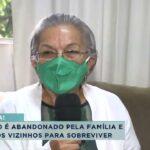 Idoso cego e doente é abandonado pelos parentes em apartamento
