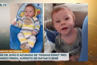 """Mãe de João é acusada de """"passar pano"""" pro marido preso suspeito de matar o bebê"""