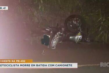 Motociclista morre em batida com camionete