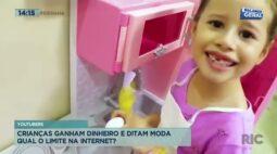 Youtubers crianças ganham dinheiro e ditam moda: qual o limite na internet?