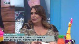 Graciele mostra obra luxuosa em triplex que vai morar com Zezé