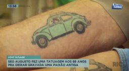Vovô tatuado: ele fez tatuagem aos 68 anos pra deixar gravada uma paixão antiga