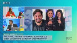 Kaká Diniz rebate Fernando Zor, após ele dizer que Simone e Simaria cantam forró