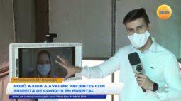 Robô ajuda a avaliar pacientes com suspeita de covid-19 em hospital