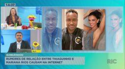 Rumores da relação entre Thiaguinho e Mariana Rios causam na internet