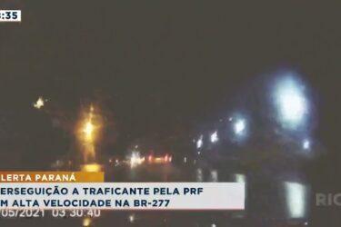Perseguição a traficante pela PRF em alta velocidade na BR 277