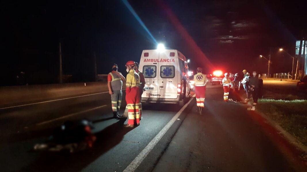 Homem morre ao tentar atravessar a PR-445, perto de Cambé (PR)